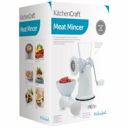 Kitchencraft Carne Para Picadora//Amoladora alimentación Saludable. plástico dos blades Incluido
