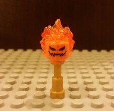 Lego NEW Headless Horseman Minifig Flaming Orange Head- Halloween Pumpkin 76057