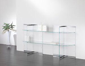 Composizione mobile consolle tavolo tavolino vetro for Consolle da muro