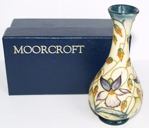 1st-Moorcroft-VASE-SWEET-THIEF-Design-Original-Box-MCC-Piece-Rachel-Bishop-2000