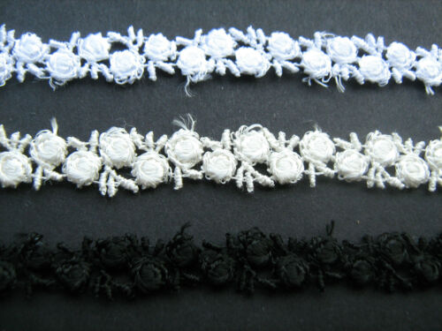 Black//White//Ivory Venise Lace Trim 1 Metre Sewing//Costume//Crafts//Corsetry