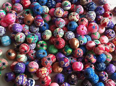 25 perles fimo fleurs 8 mm