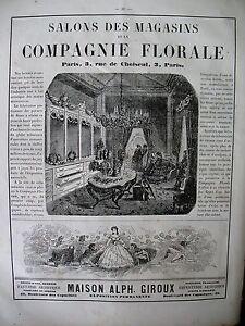PUBLICITE-DE-PRESSE-COMPAGNIE-FLORALE-FLEURS-ARTIFICIELLES-ART-FLORAL-AD-1866