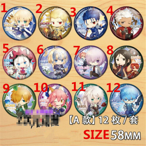 """2.3/"""" T1173 Anime Fate//Zero badge Pin button Schoolbag Backpack Decorate 5.8CM"""