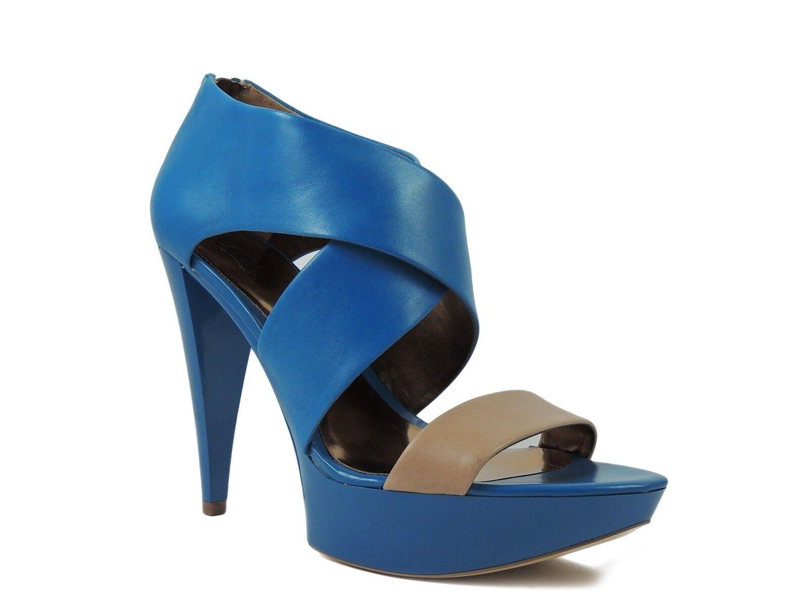 Carlos Santana Women's Mixer Open Toe Platform Sandals bluee Camel Size 8 M
