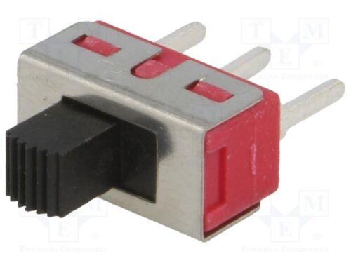 1 st Schiebeschalter; Schaltstellungen:2; SPDT; 3A//250VAC Schalter