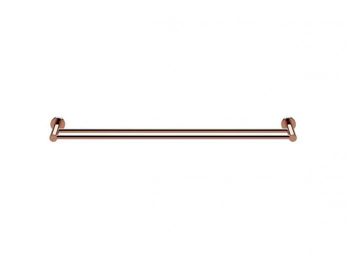 Milli PURE DOUBLE TOWEL RAIL Wall Mounted Rosa Gold- 600mm 600mm 600mm Or 780mm f67bf2