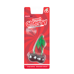 2-X-Cereza-Dulce-Perfume-Gel-Coche-Ambientadores-3D-Colgante-elimina-olores