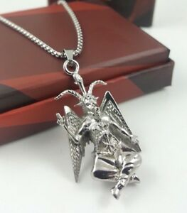 Church-of-Satan-BAPHOMET-Pendant-Necklace-Stainless-Steel-316L