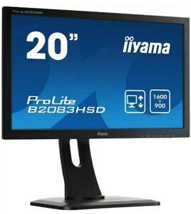 IiYama-ProLite-B2083HSD-B1-19-5-Pollici-Led-Monitor-1600-x-900-5ms-Altoparlanti-NUOVO