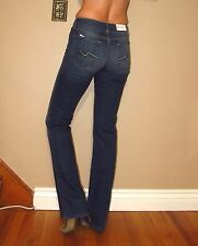 Women/'s Size 23 27x27 7 For All Mankind Roxanne Slim Fit Black Jeans