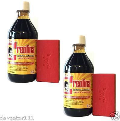 2 CREOLINA Coal Tar Deodorant Cleaner Odor Remover 16 oz Animal Quarters Cleaner