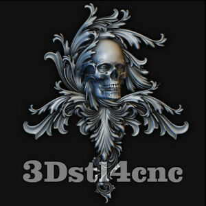 3D-Model-STL-CNC-Router-Artcam-Aspire-Skull-Furniture-Decor-Cut3D-Vcarve