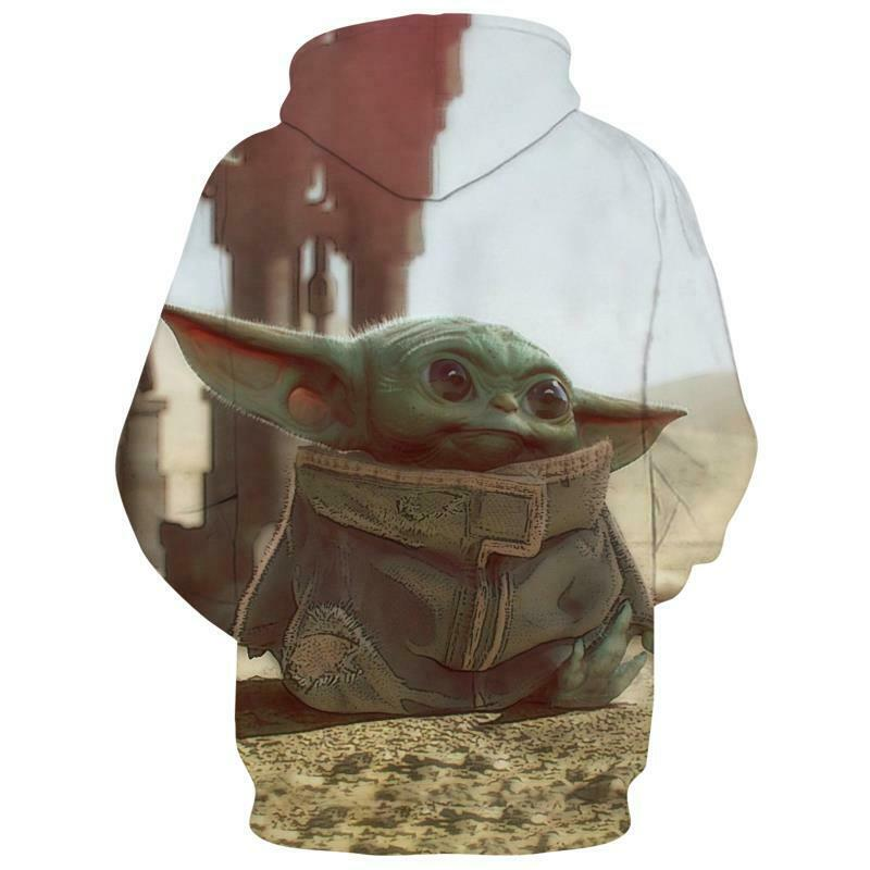 Star Wars The Mandalorian Baby Yoda Hoodie Sweatshirt Pullover Jumper Coat