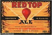 Red Top Ale Beer Label Refrigerator / Tool Box Magnet