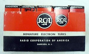 LOT OF 5 OLD RCA RADIO TUBES IN ORIGINAL BOXES