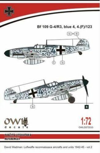 Owl 1//72 Messerschmitt Bf-109g-4//R3 Blau 4 Aufklärung #S7233
