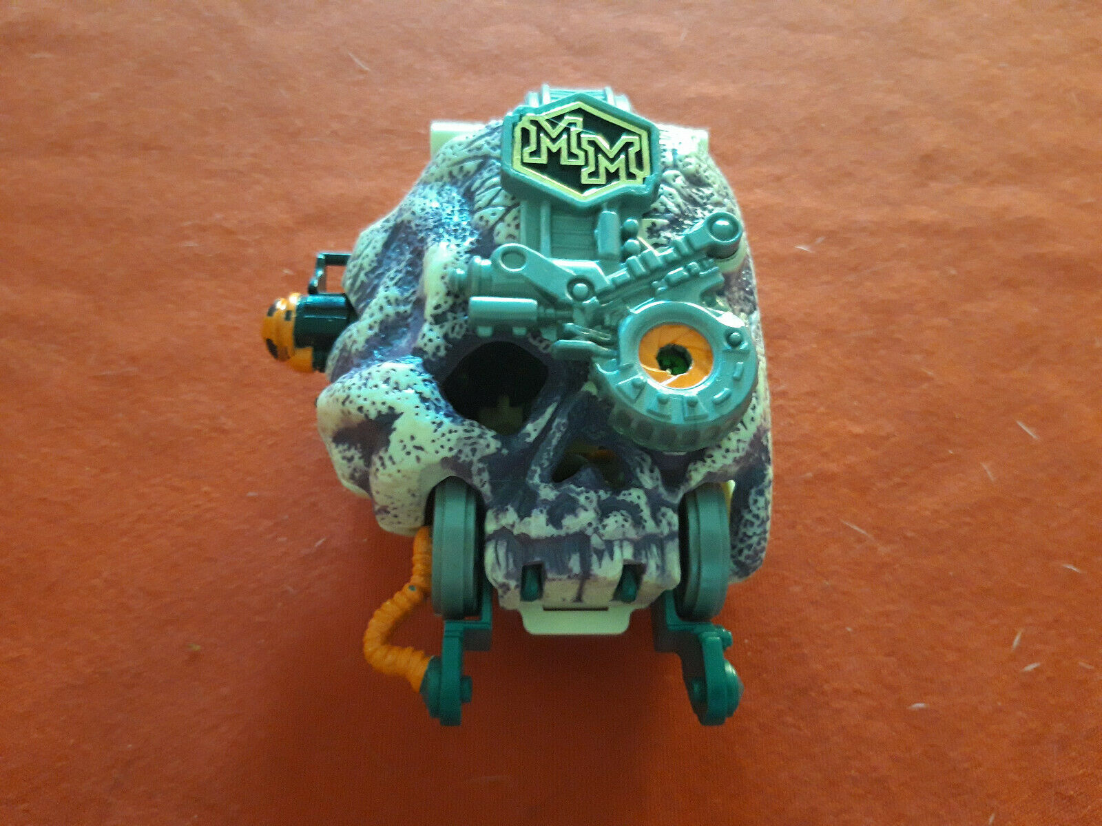 Mighty Max Cyberskull Cyber Skelett Doom Zones Blaubird 1994 Spielzeug Vintage