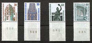 Berlin-793-796-R-3-er-Streifen-postfrisch-SWK-Rollenmarken-Sehenswuerdigkeiten