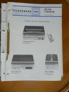 Tv, Video & Audio Trendmarkierung Service Manual Telefunken Vr 510/t 50/n 50 Video,origin