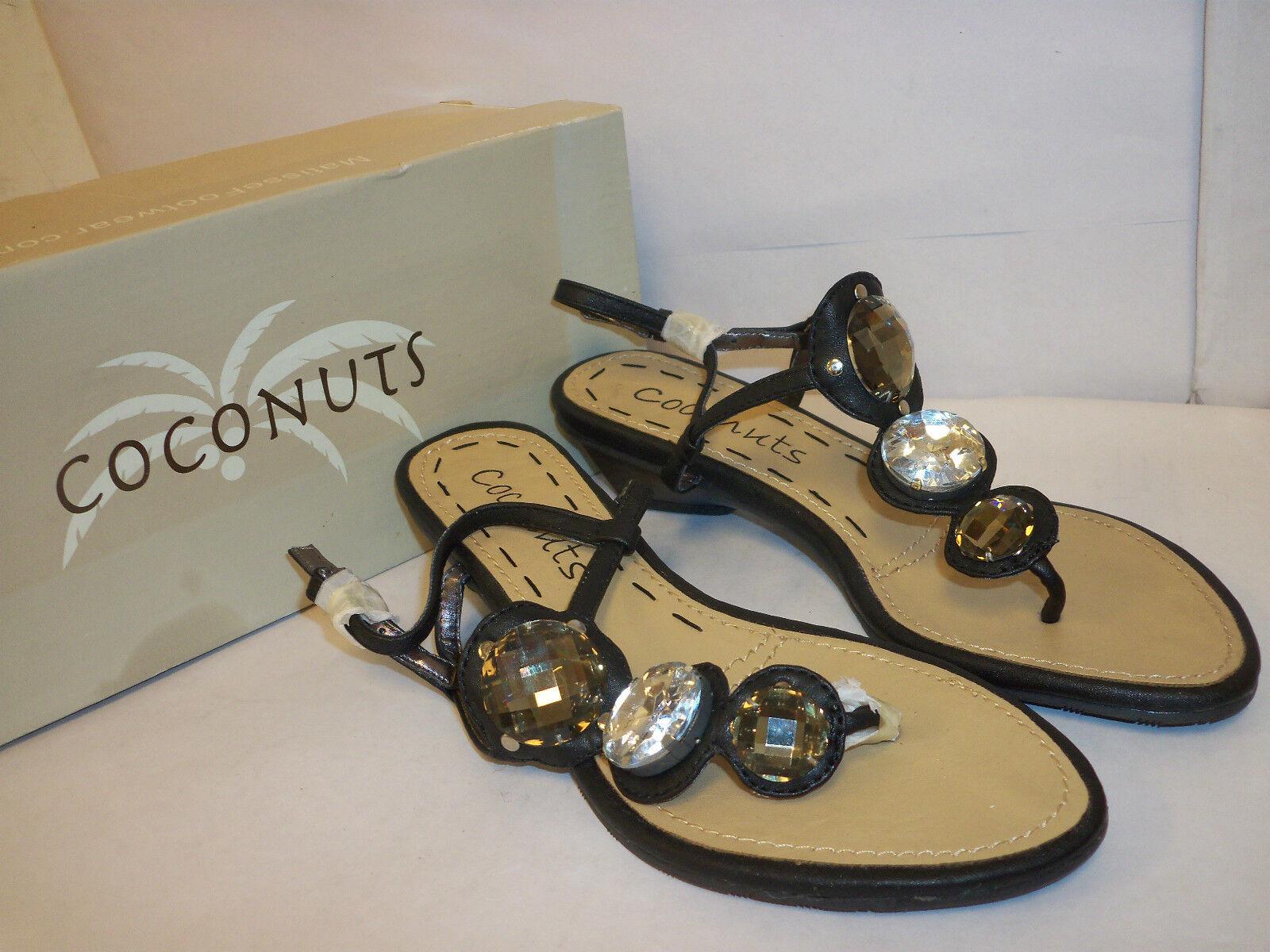Coconuts nuevo para para para mujer Matisse Boardwalk Negro 6 M Charol Sandalias Zapatos  toma