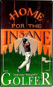 608-Golfspiel-Golfen-Poster-Fun-Werbung-Golfer-Schild-Golfclub-Golfplatz-Sign