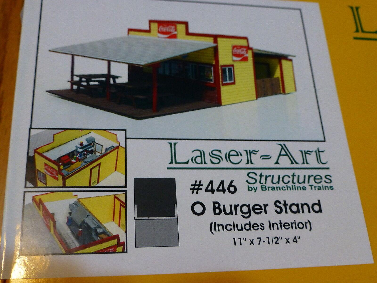 Branchline O  446 Burger Stand Kit  11  x 7-1/2  x 4   Laser-Art