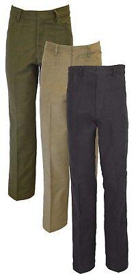 Da Uomo Classico Pelle Di Talpa 100% Cotone Uk Pantaloni Beige-oliva Blu Scuro-all' Aperto-mostra Il Titolo Originale Buona Conservazione Del Calore