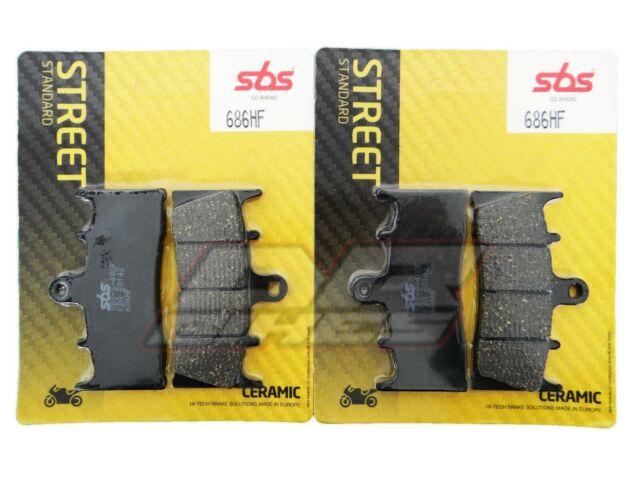 Fits Suzuki GSXR 1000 2001 2002 K1 K2 SBS Ceramic Front Brake Pads 686HF