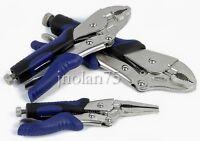 Kobalt 3 Pc Locking Pliers Set 6.5 Long Nose 7 & 10 Curved Jaw Vise Vice Grip