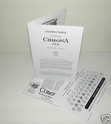 Advertisement Reproduction Corona 4 Portable Typewriter Instruction Manual