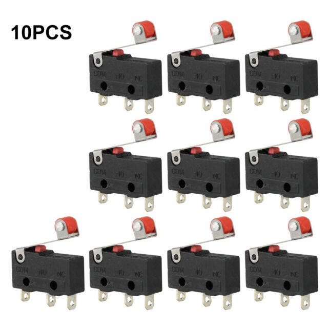 10x 5A AC 125-250V Roller lever arm terminal microswitch limit Open//Close KW12-3