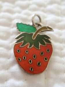 Vintage Sterling Silver Strawberry Charm