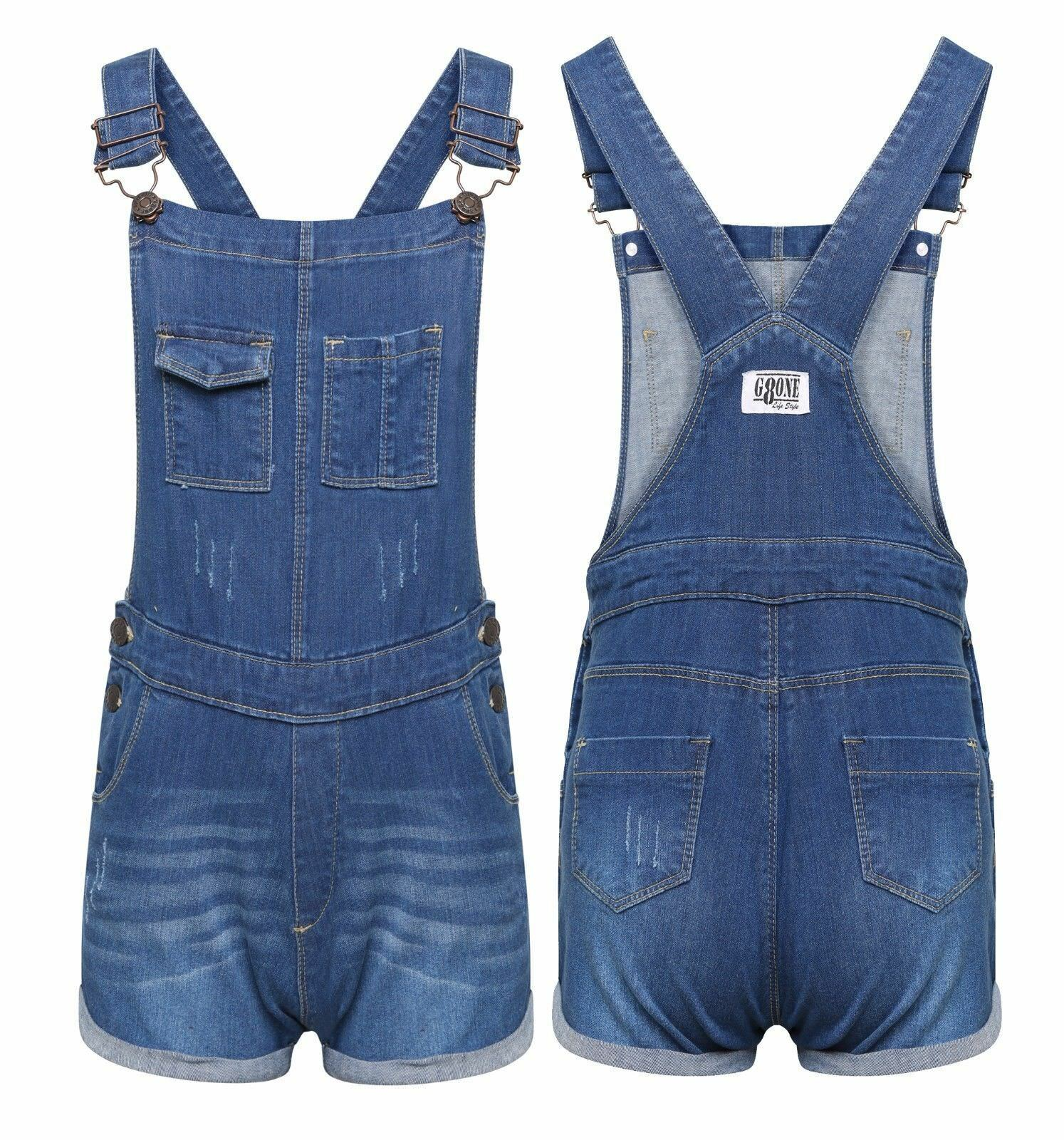 unequal in performance top-rated usa cheap sale Details about New Girls Short Dress Dungaree Inna Pinafore Jumpsuit Play  Suit Celeb Stylish UK