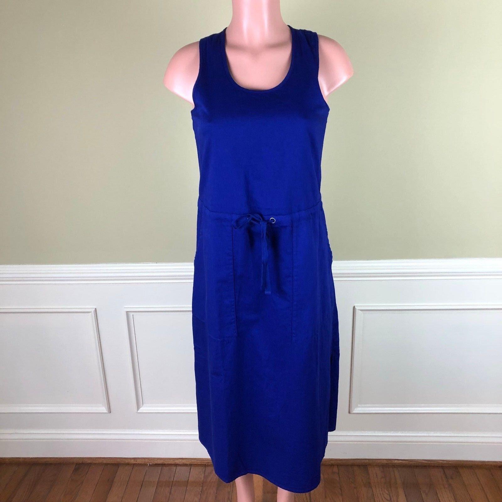 Eileen Fisher damen Dress Blau Sleeveless Twill Organic Cotton Größe PP NEW