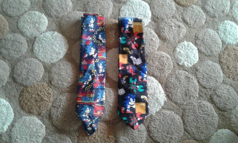 Rare Sega Sonic the Hedgehog mens neckties for sale