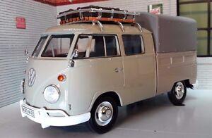 LGB-1-24-Echelle-VW-T1-Pare-brise-Divise-Double-equipage-Taxi-Rack-Modele-moule