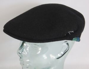 Kangol Wool 504 80th Anniversary Flatcap Black Wool Hat Golf Cap New ... 51697f4d8197