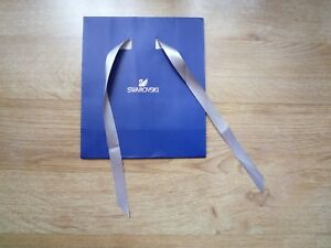 e90bad320c Swarovski Logo Gift Bag Retail with Ribbon 18x8x21cm dark blue Embossing -  London, London,