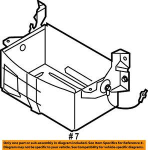 ford oem 99 14 e 350 super duty 5 4l v8 battery box tray bracket Ford E350 Transit image is loading ford oem 99 14 e 350 super duty