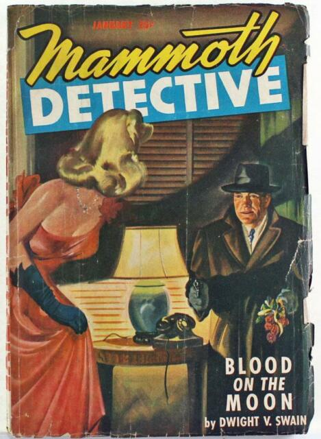 Mammoth Detective Pulp Magazine January 1947 Vol. 6 No. 1 Blood On The Moon