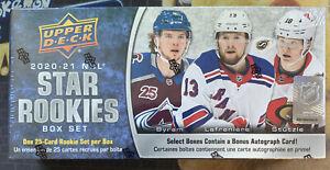 2020-21 Upper Deck NHL Star Rookies Hockey Sealed Box Set - 25 rookie cards pack