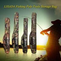 Fishing Rod Carrier Oxford Fishing Pole Storage Bag Case Gear 130/150cm B2z6