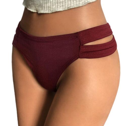 Women Cutout Waistband Underwear Briefs Low Rise G-String Lingerie Panties Thong