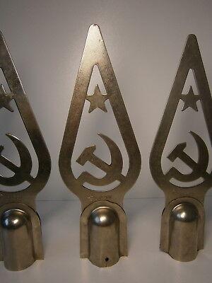 Vintage Flag Topper Hammer and Sickle USSR Soviet Symbol Collectible USSR Metal Flag Tip Soviet Communism Made in USSR 70s Soviet Flag Tip