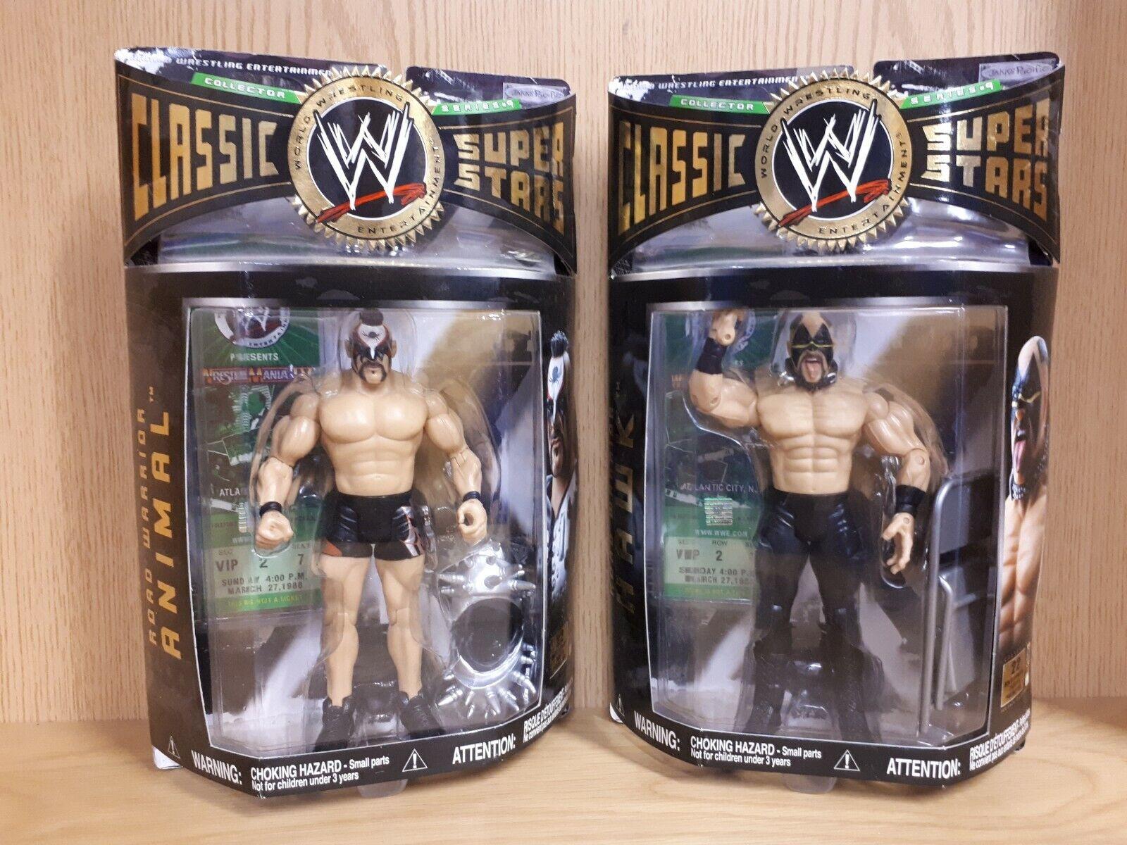 WWE Classic Superstars les guerriers de la Route-HAWK ET ANIMAL Series 9 WWF 6 7  Figure