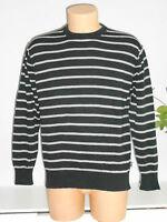 INSCENE schöner Herren Pullover Feinstrick Pullover Gr.XL schwarz grau TOP!!