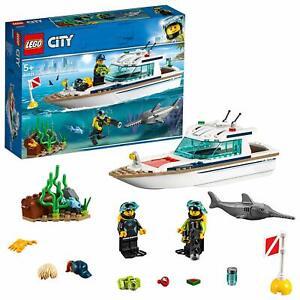 Lego Grand Détails Afficher Sur Enfant Vehicles Great Jouet City Loisir Bateau Luxe Nautique Le D'origine 60221 Plongée Titre rxCBedo