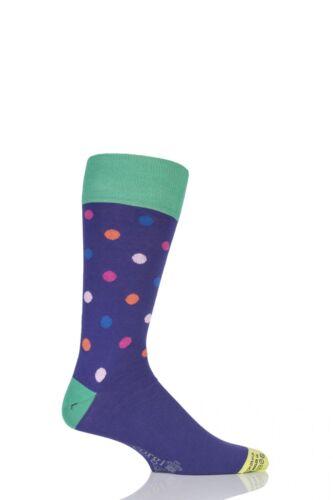Mens 1 Pair Corgi Lightweight Cotton Multi Spotty Socks
