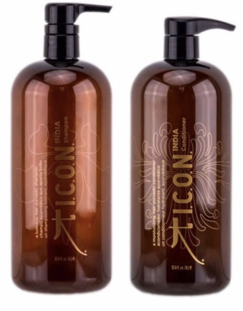 I.C.O.N. ICON India Shampoo & Conditioner Duo 33.8 oz 1 L Set FREE SHIPPING FAST